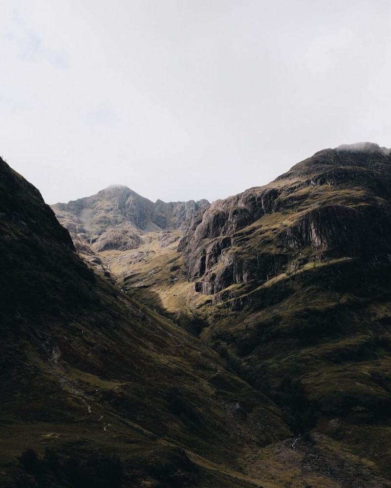 Eerie mountain landscape